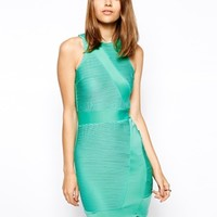 AX Paris Wrap Body-Conscious Dress with Ripple Panels