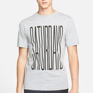 Men's Saturdays NYC 'Stretched Saturdays' Graphic T-Shirt,