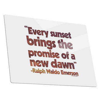 Emerson Sunset Quote Metal Panel Wall Art Landscape - Choose Size