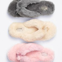 UGG Winter Keep Warm Wool Bow Slipper Shoes I-1