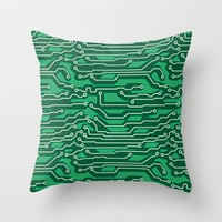Circuit Board Throw Pillow by Trendy Home