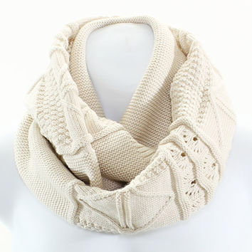 Aran Cable Knit Infinity Scarf