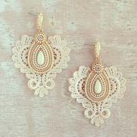 WEDDING BLISS LACE EARRINGS