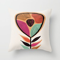 Minimal flower 02 Throw Pillow by vivigonzalezart