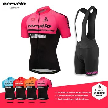 Pink Men/Women 2018 Pro Team Cycling Jerseys Breathable Cycling Clothing Kit 100% Polyester Maillot Ciclismo Racing Bike Clothes