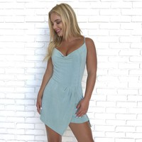 The Moment Romper in Baby Blue