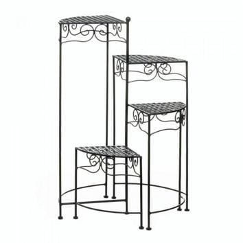 Black 4-tier Metal Plant Stand