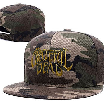 BIYJ Grateful Dead Rock Band Logo Embroidery Camouflage Cap Camo Snapback Hat