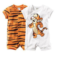 Baby Boy/Girl Tigger Rompers Short Sleeve