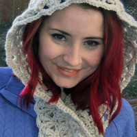 Crochet Scoodie , Accessories, Hood and Scarf Combo Scarf