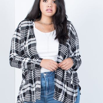 Plus Size Plaid Days Top