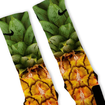 Pineapple Pina Colada Custom Nike Elite Socks