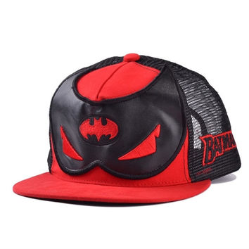 Korean version of the Batman mask flat brimmed hat hip hop cap net influx of summer hats for men and women = 1927954180
