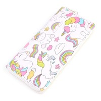 Unicorn Print Single Zipper Wallet