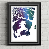 Unicorn Papercutting  - Papercut Art - Unicorn Art - Nursery Wall Art - Fantasy Art - Dorm Decor - Unicorn Gift - Mythical Creature