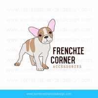 OOAK Premade Logo Design - French Bulldog - Perfect for a pet accessories brand or a handmade dog collars shop