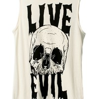 Skull Graphic Sleeveless Tunic