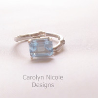 Blue Topaz Branch Ring by Carolyn Nicole Designs