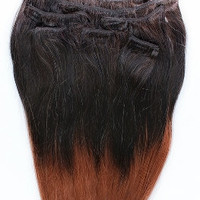 16inches 7pcs Clip In Human Ombre Hair Extensions T2/33
