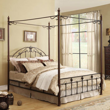 Newcastle Cast-Iron Metal Queen-size Canopy Bed | Overstock.com