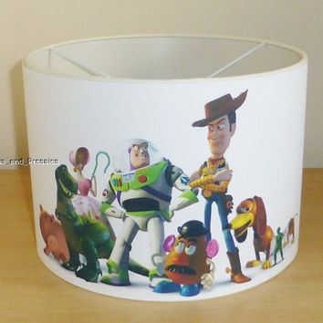 Handcrafted Toy story ceiling lampshade / lamp shade ~ boys bedroom