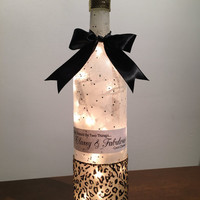 Classy and Fabulous Coco Chanel Wine Bottle Lamp