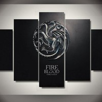The Game Of Thrones Fire And Blood Wall Art