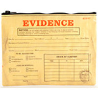 """Blue Q Zipper Pouches Evidence 9 1/2"""" x 7 1/4"""" 95% Post Consumer Recycled Material"""