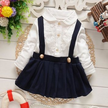 New Collection Baby Girl Navy/red Top Sailor Lace Newborn to 24 Months