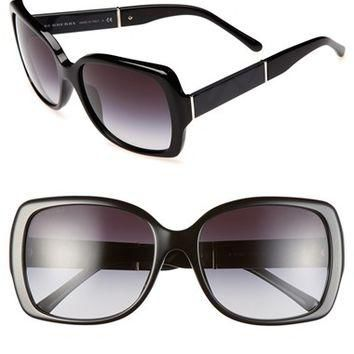 Women's Burberry 58mm Square Sunglasses - Black/ Grey