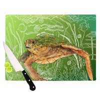 "Catherine Holcombe ""Shelley Green Sea"" Cutting Board"
