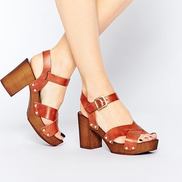 ASOS TILLY Leather Heeled Sandals
