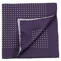 Federico-Large Silk Purple Pocket Square