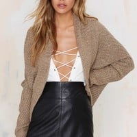 Glamorous Knit A Love Song Ribbed Cardigan