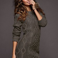 Slouchy Cable Sweaterdress - Victoria's Secret