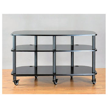 AR Series 3 Shelf TV Stand Audio Rack Casters Multiple Finishes