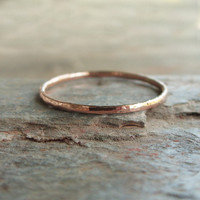 Tiny 14k Rose Gold Stacking Band