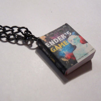 Enders Game by Orson Scott Card Miniature Book Pendant Necklace