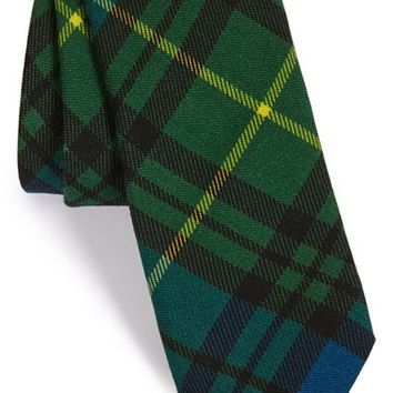 Men's Todd Snyder White Label 'Signature' Plaid Wool Tie, Size Regular - Green