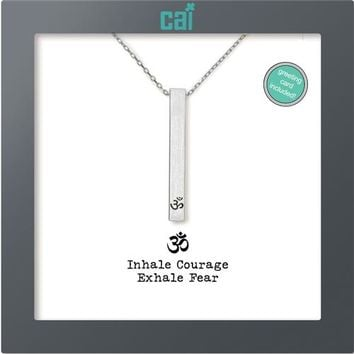 Inhale Courage Exhale Fear Secret Message Necklace