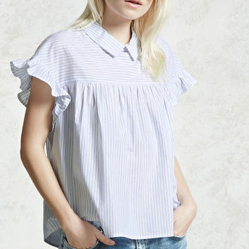 Striped Collar Blouse
