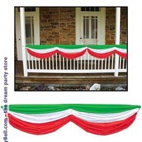 Red, White and Green Fabric Bunting for Christmas