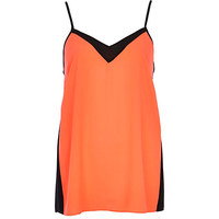River Island Womens Pink and black color block cami top