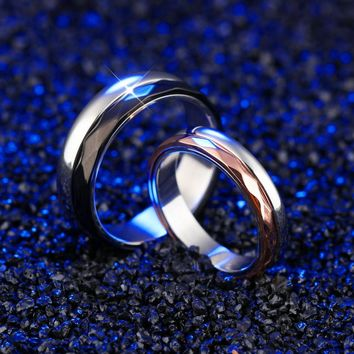 2017 Topsella Fashion Stainless Steel Couples Rings Luxury Brand Jewelry Modern Smooth Design Valentine's Day Gifts Rings