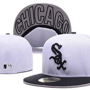 Chicago White Sox New Era Mlb Cap Americana Ultimate 59fifty White Hat