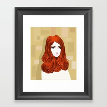 Orange Girls Framed Art Print by dhiazkaosy