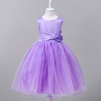 2017 Summer Little Kids Dress Princess Flower Baby Toddler Girls Disguises Dresses For Girls' Clothes In Weddings Years 274