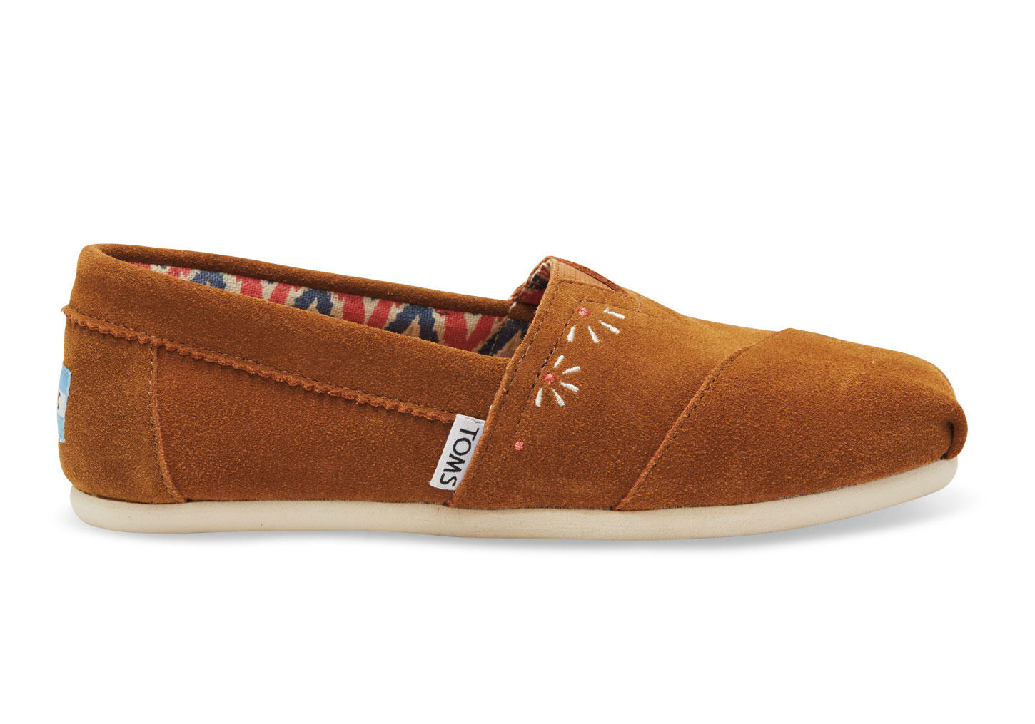 TOMS Brown Suede Embroidery Festival Women s Classics Brown 4012c1c2bafd