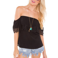Kenzie Lace Top - Black