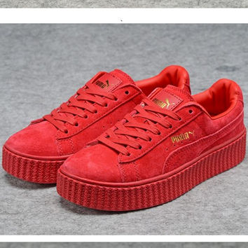 PUMA Women Casual Running Sport Shoes Sneakers Red